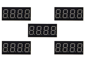 100x 0 36 Red Led 7 Segment Display Common Cathode 12 Pin 4 Bit Digital Tube Sr