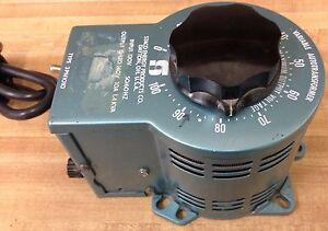 Staco Energy Products Co 3pn1010 Variable Autotransformer Without Plug