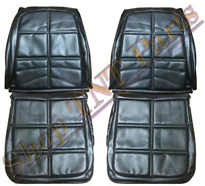 1969 Dodge Charger Seat Covers Front Bucket Upholstery Skins Black Vinyl