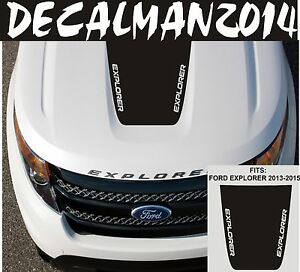 Ford Explorer 2013 2015 Blackout Explorer Logo Vinyl Hood Decal