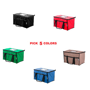 5 Pack Choice Nylon Insulated Food Delivery Bag Pan Carrier 23 X 13 X 15