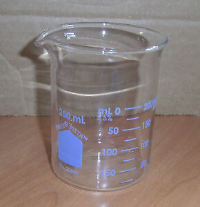Pyrex Griffin Low Form 250ml Beaker Graduated 12 pk