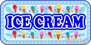 choose Your Size Ice Cream Decal Cones Concession Food Truck Vinyl Sticker