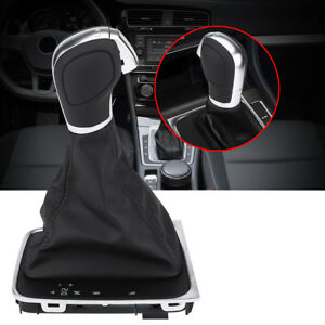 Manual Gear Shift Knob Gaiter Gaitor Boot Cover For Vw Golf 7 Gti 2015 2018 Hy