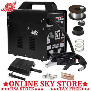 Welding Machine Automatic Feed No Gas Metal Steel Welder Home Shop Diy Free Mask