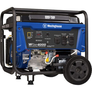 Westinghouse Wgen6000 6000 Watt Electric Start Portable Generator carb