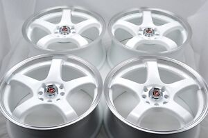 17 White Wheels Rims S40 Civic Accord Cooper Spectra Cobalt Legend 4x100 4x114 3