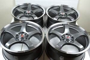 17 Gray Wheels Rims G6 Hhr Malibu Cobalt Ss Dart Fusion Focus Escape 5x108 5x110