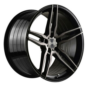 20 Vertini Rf1 6 Forged Black Concave Wheels Rims Fits Bmw G12 740 750 760