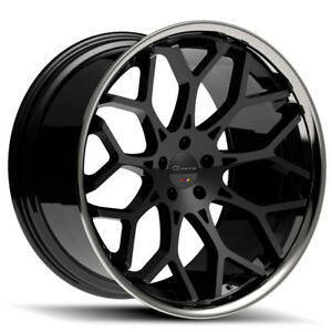 20 Giovanna Nove Ff Black Concave Wheels Rims Fits Honda Accord