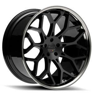 20 Giovanna Nove Ff Black Concave Wheels Rims Fits Hyundai Genesis Coupe