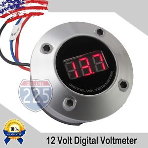 2 Digital Voltmeter W Neon Red Led Car Volt Gauge 12v 24v Dc Electric Battery