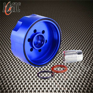 Blue Fuel Filter Adapter For Chevy Gmc Duramax Diesel Lb7 Lly Lbz Lmm L 01 16