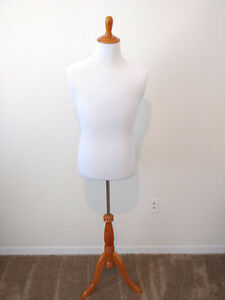 Upper Body Unisex Mannequin Complete With Stable Base