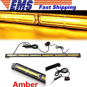 108w Universal Amber Cob Led Strobe Traffic Emergency Beacon Warning Light Bar