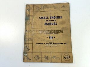 Vintage 1954 Implement Tractor Shop Manual Small Engines Service Manual Onan