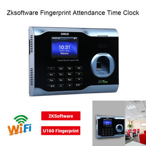 Black 3 Tft Screen Fingerprint Time Attendance Biometric Wifi Usb High Capacity
