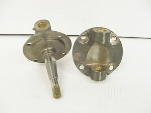 Super Bell 37 41 Ford Style Spindles W bushings And Alum Top Kingpins Plain