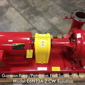 Gorman rupp patterson End Suction Pump With 40 Hp Baldor Motor 1 100 Gpm Flow
