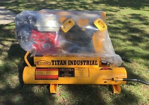 Titan Industrial 5 5 Hp 8 Gallon Gas Air Compressor Portable Wheelbarrow