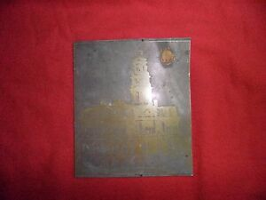 Vintage Metal Printing Plate Of Boston Mass State House 4 X 5