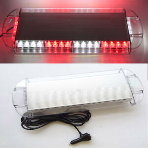 40 Led Emergency Strobe Light Bar For Car Plow Tow Truck Roof Top Red And White