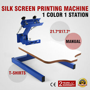 1 Color 1 Station Silk Screen Printing Machine Cutting Pressing Manual Printer