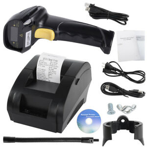 Supermarket Pos Machine 58mm Pos Thermal Receipt Printer Bar Code Laser Scanner