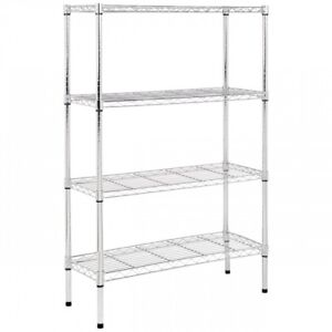 Stainless Steel Shelving Unit Make More Space Kitchen Storage 4 Shelf Wire Best