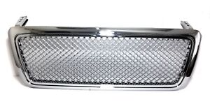 Sport Chrome Mesh Front Bumper Abs Grille 04 08 Ford F150 P2 Pickup Truck