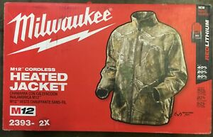 Milwaukee M12 Cordless Heated Jacket 2393 2x Battery Charger Free Ship