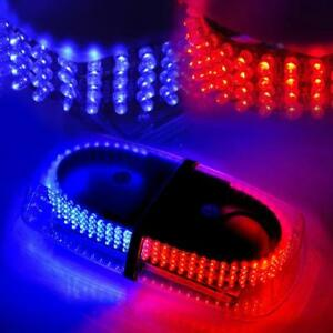 240 Led Blue Red Safety Warning Flashing Strobe Light Snow Plow Service Truck