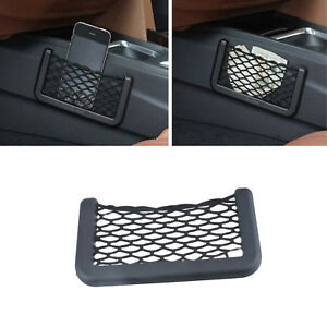 Universal Car Seat Side Back Net Storage Bag Phone Holder Pocket Organizer Us