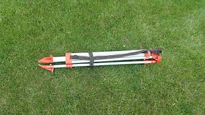 Used Survey Tripod With Quick Clamp Legs
