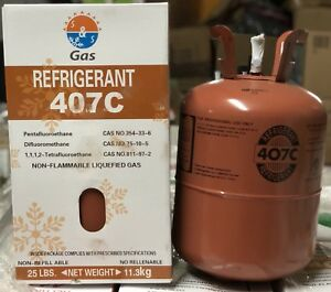 1 Half Pallet Of 20 X R407c refrigerant 25 Lb Cylinder s Free Shipping