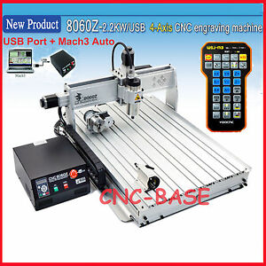 Usb Four 4axis 8060 2 2kw Cnc Router Engraver Engraving Milling Carving Machine