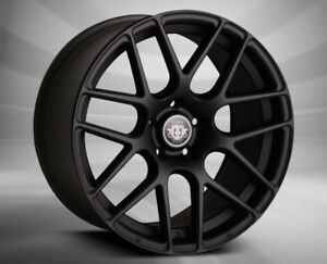 18x8 18x9 5x108 Curva C7 Matte Black Made For Ford Jaguar Volvo
