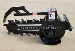 New Premier T125 Trencher Attachment 36 x6 Ramrod Finn Mini Skid Steer Loader