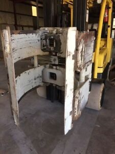 Cascade 9000 Lbs Hydraulic Rotating Paper Roll Clamp Forklift Attachment video