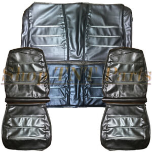 68 Charger Seat Covers Front Buckets Rear Back Upholstery Skins 1968 Dodge