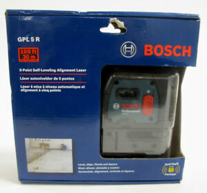 Bosch 5 point Self leveling Alignment Laser Gpl5r