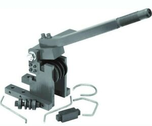 Heavy Duty Bench Top Mount Metal Bender Compact Cast Iron Round Flat Pipe Tubing