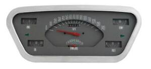 Gray 53 55 Direct Fit Ford F 100 F series Truck Gauge Panel Dash Cluster Ft53g