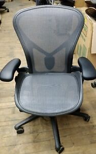 Herman Miller Aeron Remastered Mesh Desk Chair Medium Size B Fully Adjusta