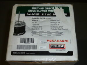 New Totaline p257 e5470 Multi Hp Direct Drive Blower Motor 3 4 1 5 Hp 115 V