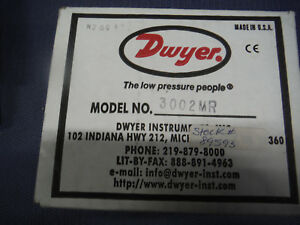 Dwyer Instruments Magnehelic Pressure Differential Gauge 3002mr 0 2 Wc