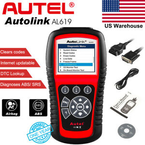 Autel Al619 Obd2 Diagnostic Scan Tool Reader Clears Code As Launch Creader Cr619