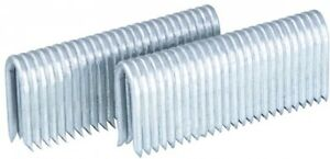 11 gauge Galvanized Steel Fencing Staples Metallic Specialty Fasteners 1500 pack