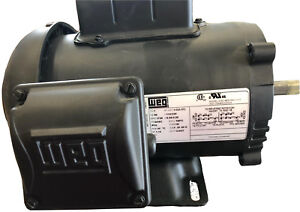 New Weg 1 2 Hp 115 230vac 60hz Tefc Continuous Duty 56c Frame Electric Motor