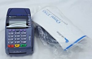 Verifone Omni 3750 Credit Card Machine W Adapter used